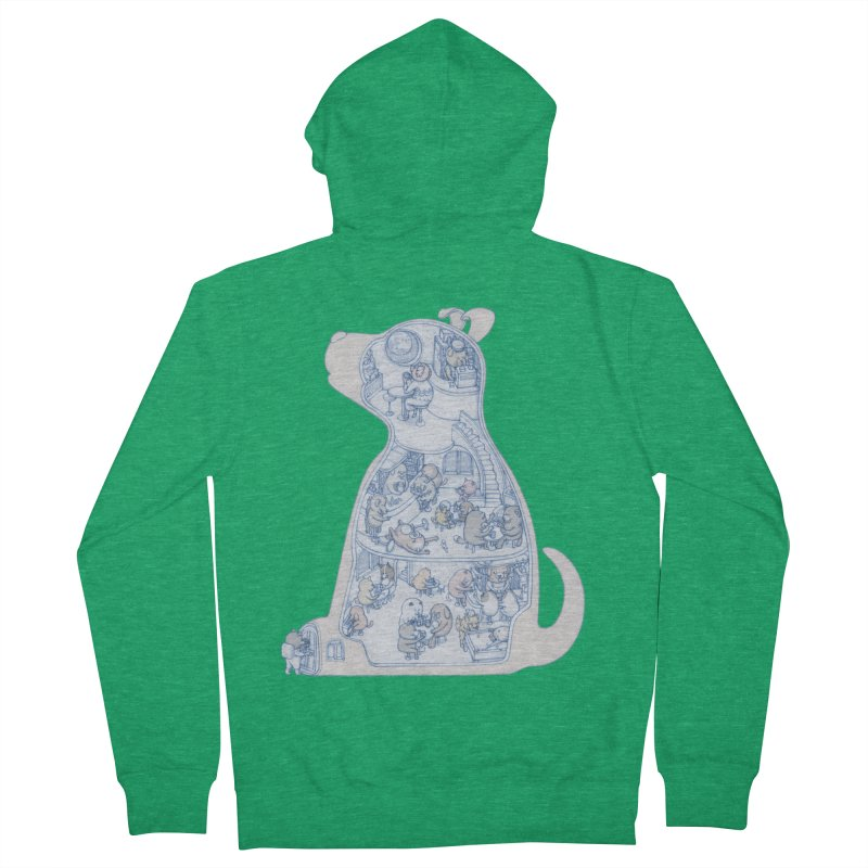 my dog and friends Men's Zip-Up Hoody by makapa's Artist Shop