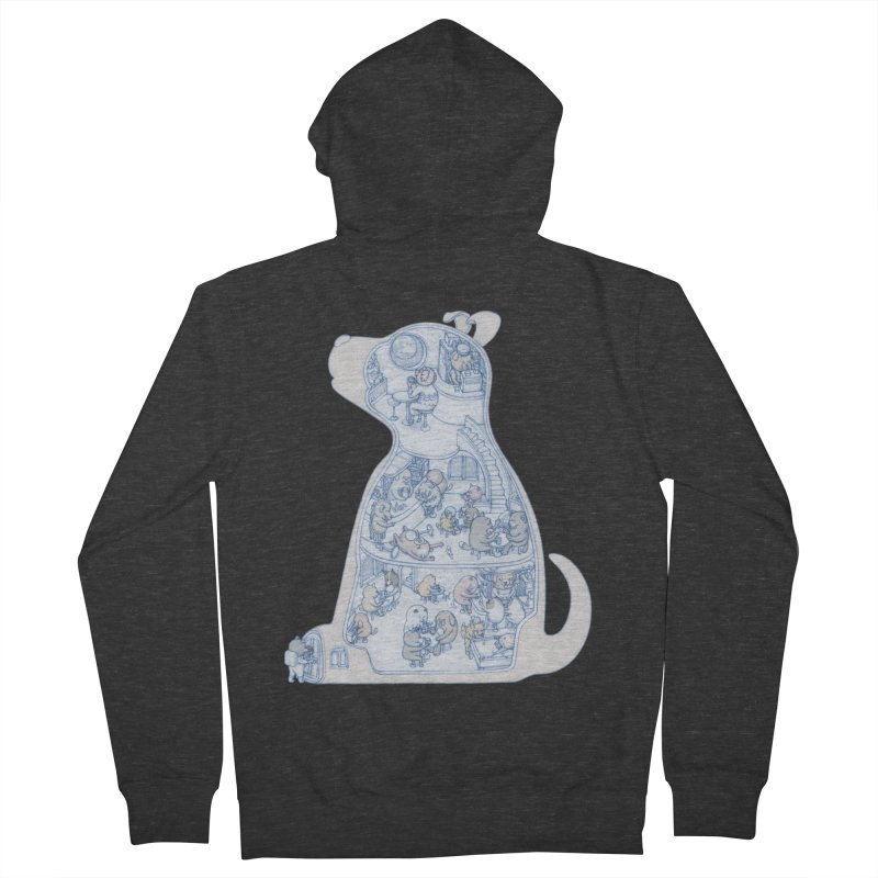 my dog and friends Men's French Terry Zip-Up Hoody by makapa's Artist Shop