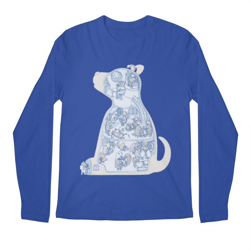 my dog and friends Men's Longsleeve T-Shirt by makapa's Artist Shop