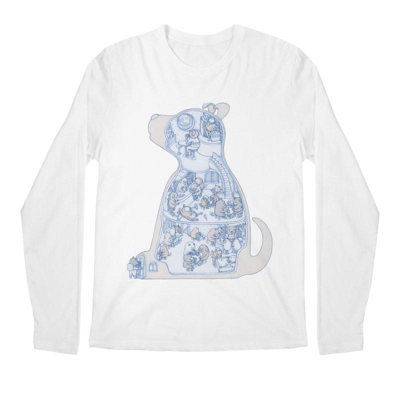 my dog and friends Men's Longsleeve T-Shirt by makapa's Artist Shop