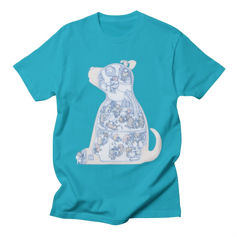 my dog and friends Men's T-Shirt by makapa's Artist Shop