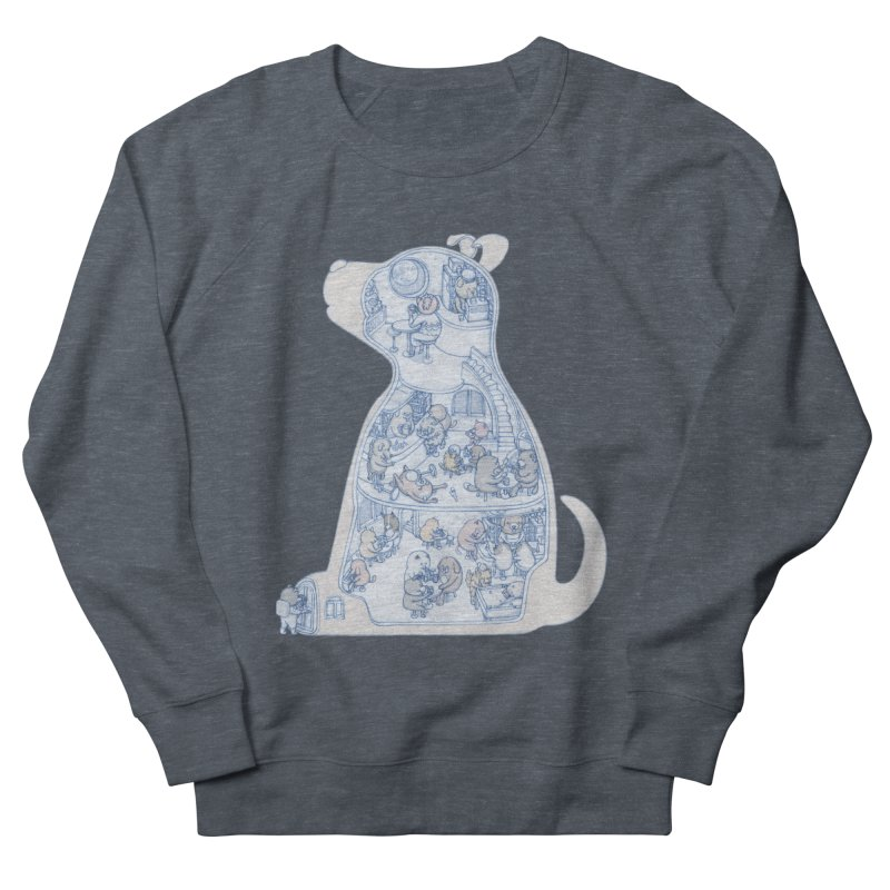 my dog and friends Men's Sweatshirt by makapa's Artist Shop