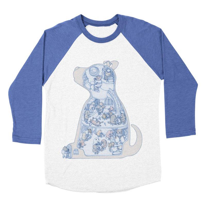 my dog and friends Women's Baseball Triblend T-Shirt by makapa's Artist Shop