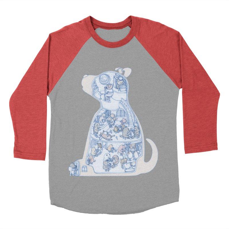 my dog and friends Women's Baseball Triblend Longsleeve T-Shirt by makapa's Artist Shop