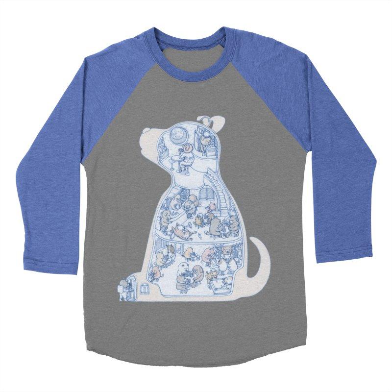 my dog and friends Men's Baseball Triblend T-Shirt by makapa's Artist Shop
