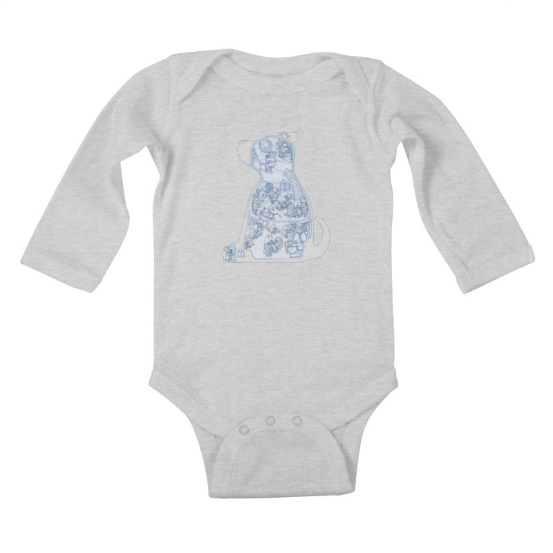my dog and friends Kids Baby Longsleeve Bodysuit by makapa's Artist Shop