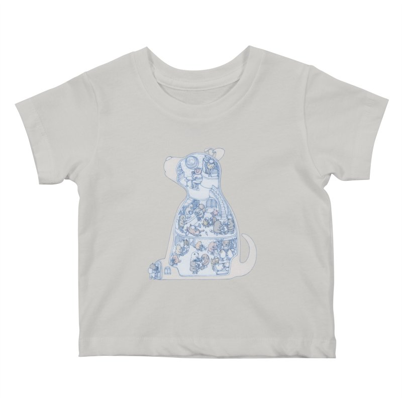 my dog and friends Kids Baby T-Shirt by makapa's Artist Shop