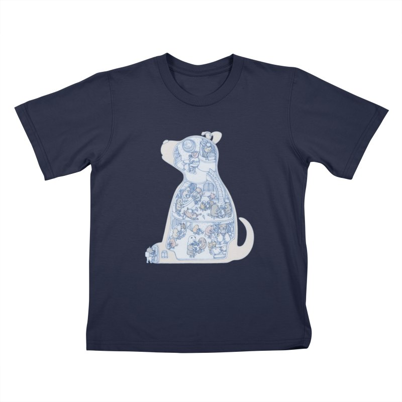 my dog and friends Kids T-Shirt by makapa's Artist Shop