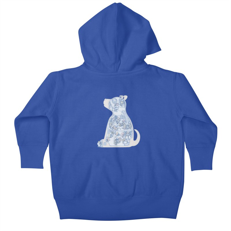 my dog and friends Kids Baby Zip-Up Hoody by makapa's Artist Shop