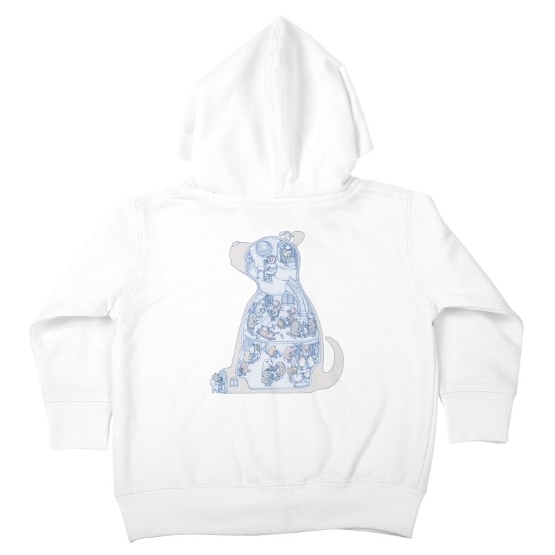 my dog and friends Kids Toddler Zip-Up Hoody by makapa's Artist Shop