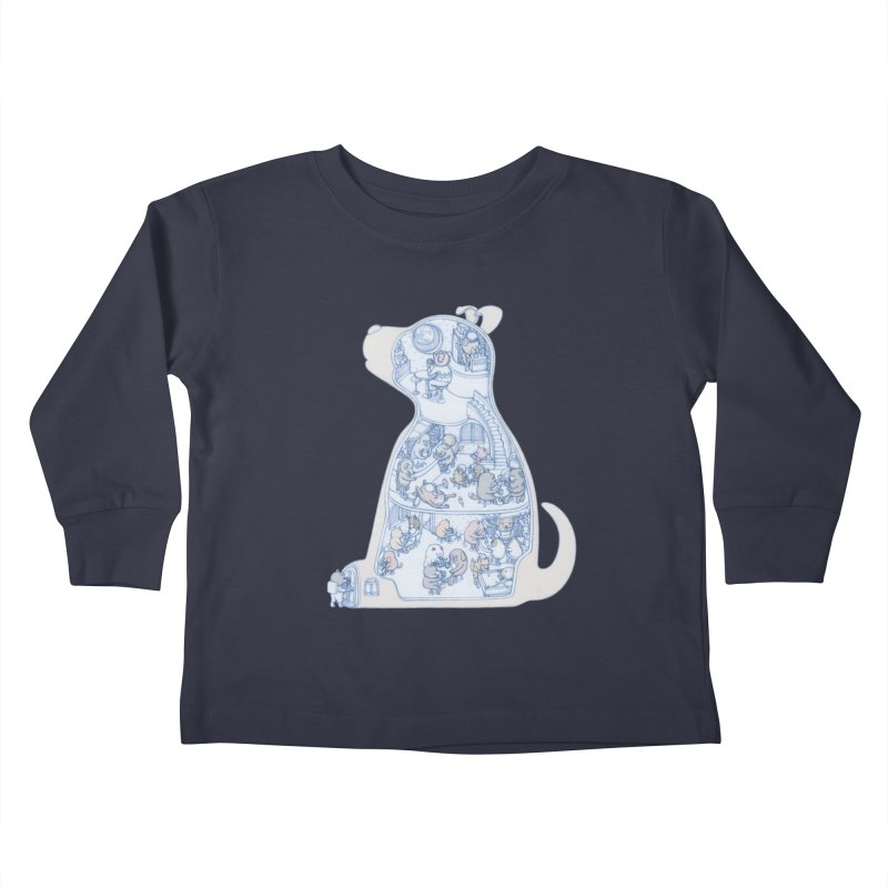 my dog and friends Kids Toddler Longsleeve T-Shirt by makapa's Artist Shop