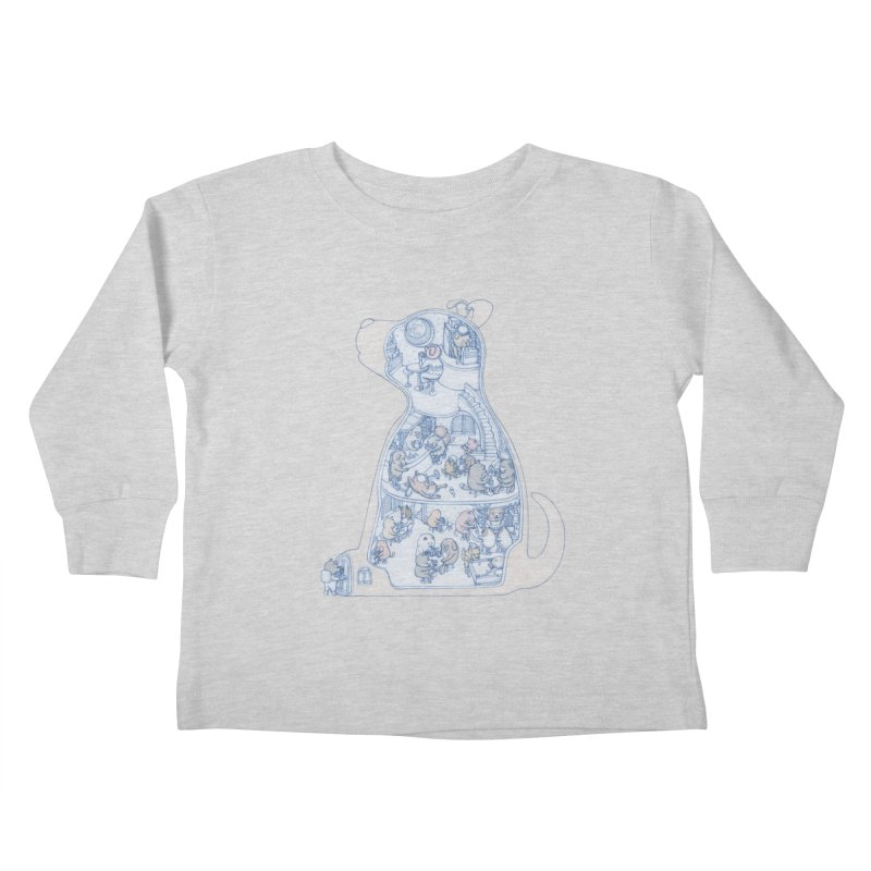 my dog and friends Kids Toddler Longsleeve T-Shirt by makapa's Artist Shop