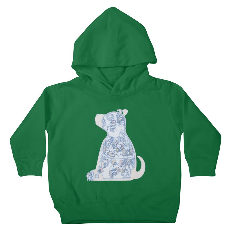 my dog and friends Kids Toddler Pullover Hoody by makapa's Artist Shop