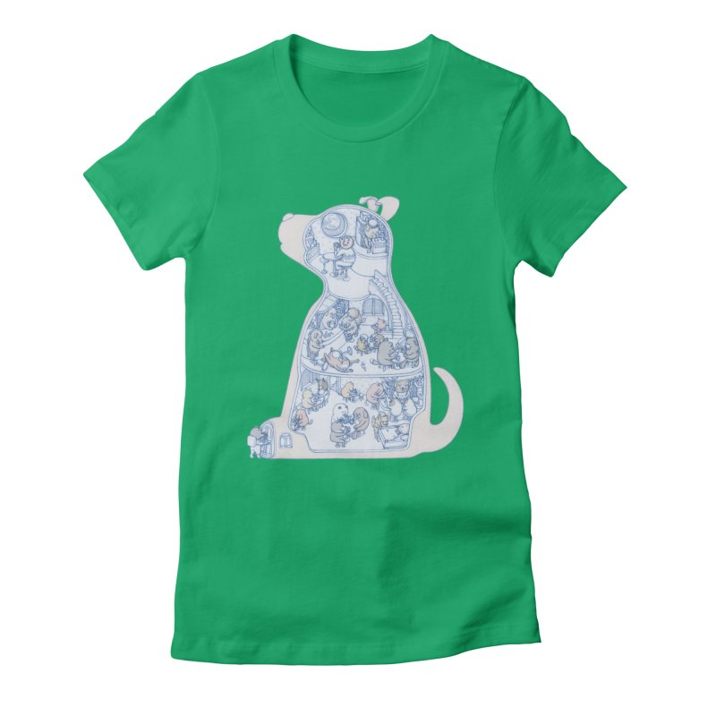 my dog and friends Women's Fitted T-Shirt by makapa's Artist Shop