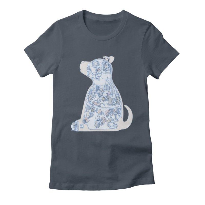 my dog and friends Women's T-Shirt by makapa's Artist Shop