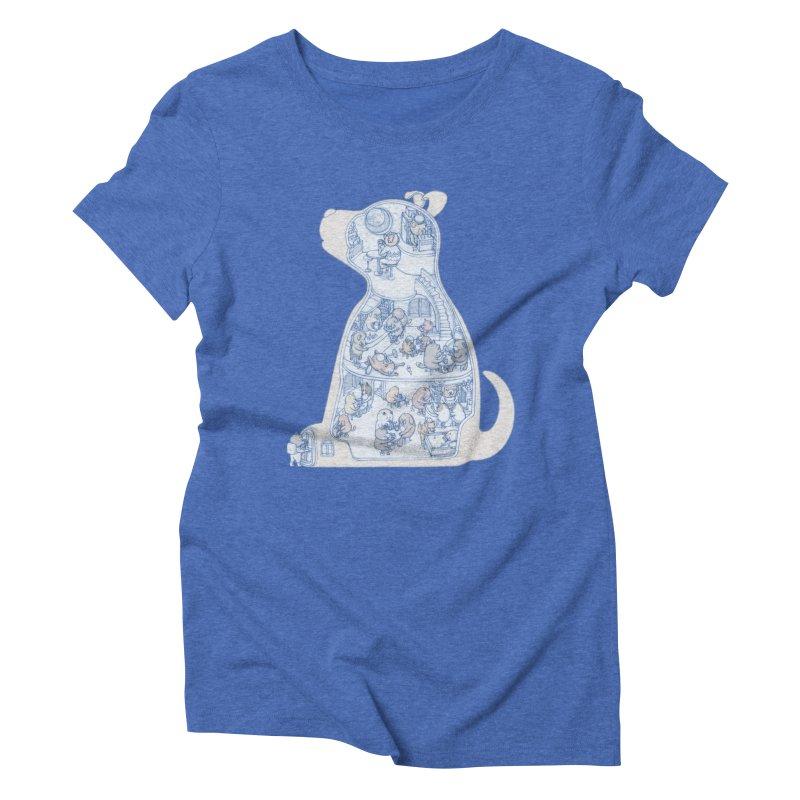 my dog and friends Women's Triblend T-Shirt by makapa's Artist Shop