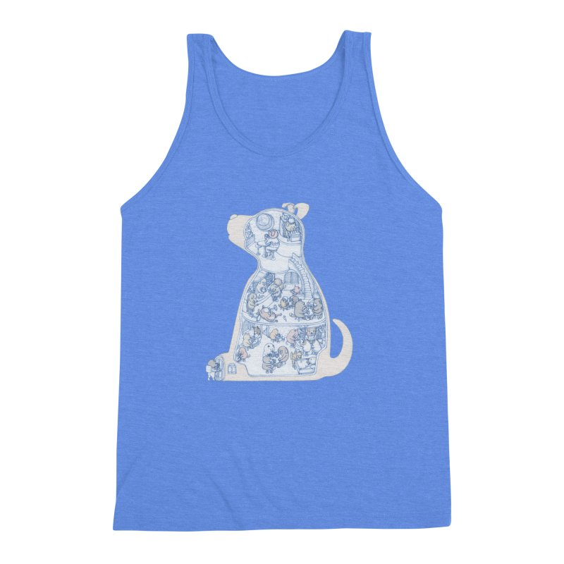 my dog and friends Men's Triblend Tank by makapa's Artist Shop