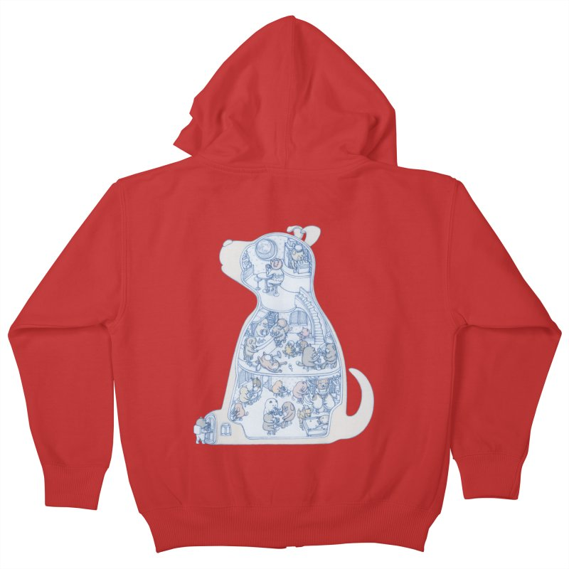 my dog and friends Kids Zip-Up Hoody by makapa's Artist Shop