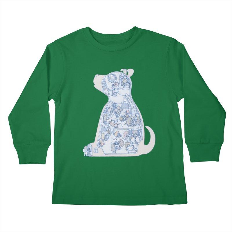 my dog and friends Kids Longsleeve T-Shirt by makapa's Artist Shop
