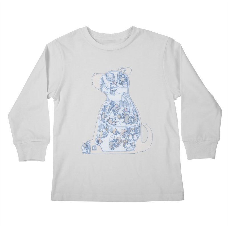 my dog and friends Kids Longsleeve T-Shirt by makapa's Artist Shop