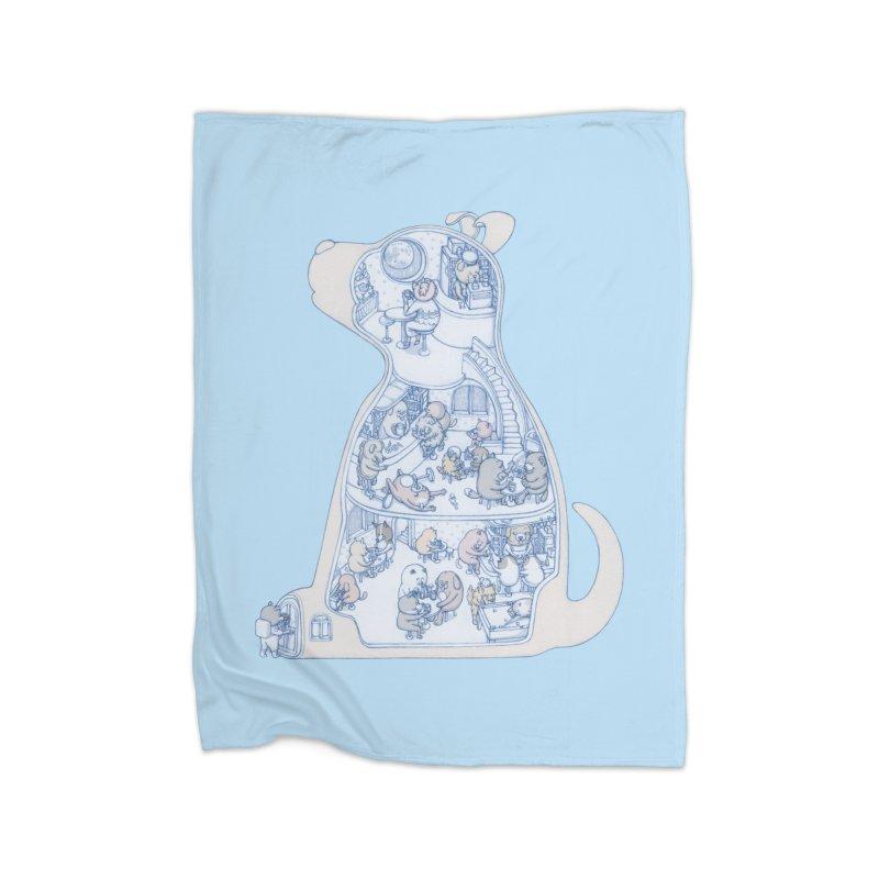 my dog and friends Home Fleece Blanket Blanket by makapa's Artist Shop