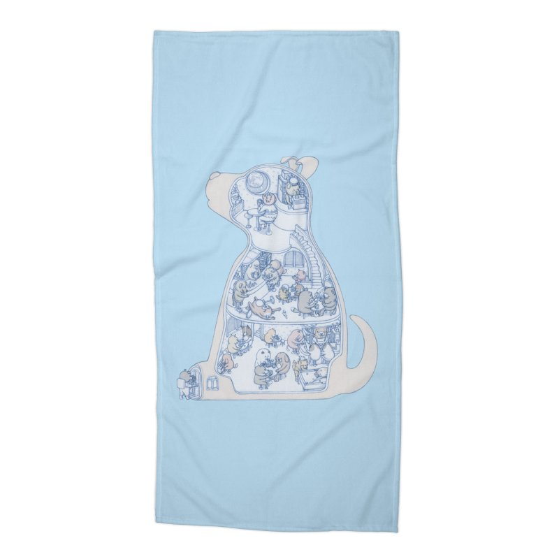 my dog and friends Accessories Beach Towel by makapa's Artist Shop
