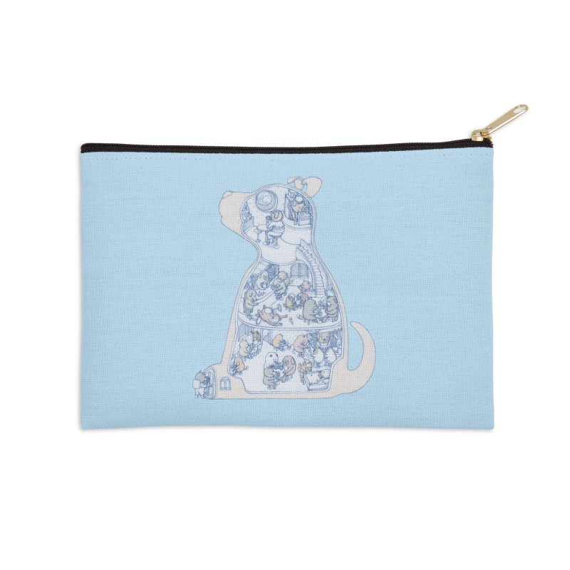 my dog and friends Accessories Zip Pouch by makapa's Artist Shop
