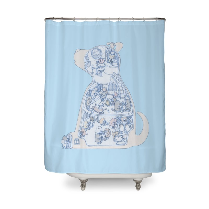 my dog and friends Home Shower Curtain by makapa's Artist Shop