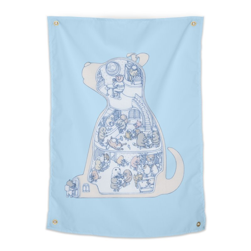 my dog and friends Home Tapestry by makapa's Artist Shop