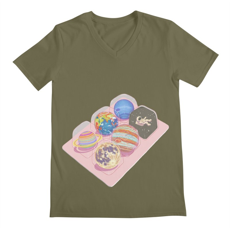 universe space pack Men's V-Neck by makapa's Artist Shop