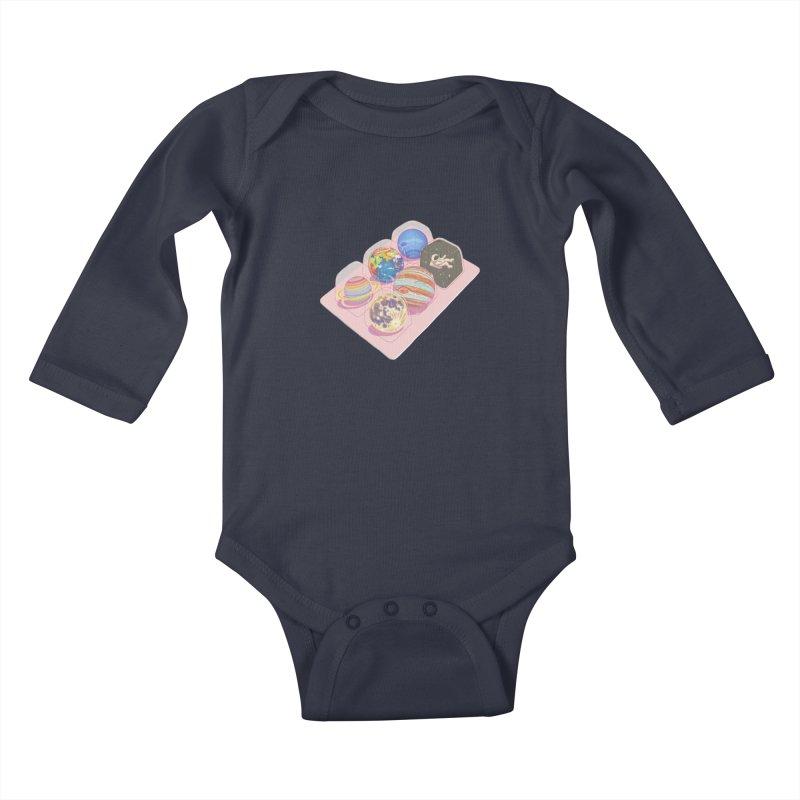universe space pack Kids Baby Longsleeve Bodysuit by makapa's Artist Shop