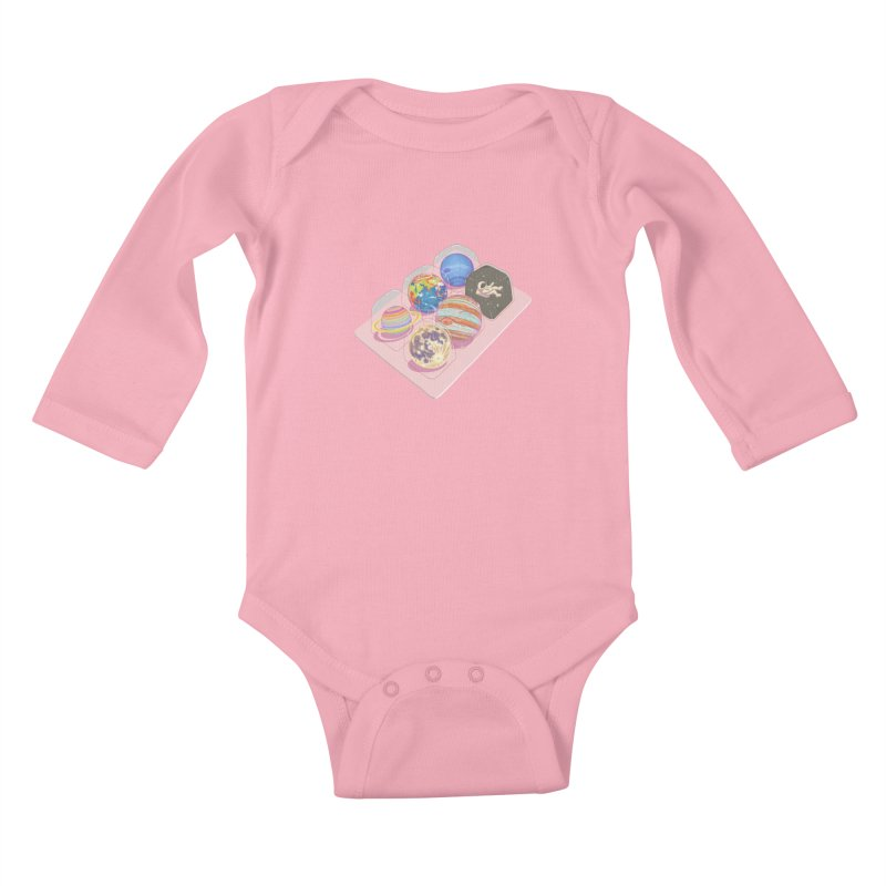 universe space pack Kids Baby Longsleeve Bodysuit by makapa's Artist Shop