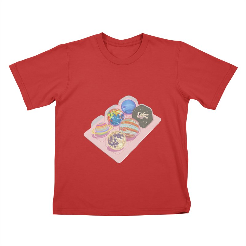 universe space pack Kids T-Shirt by makapa's Artist Shop