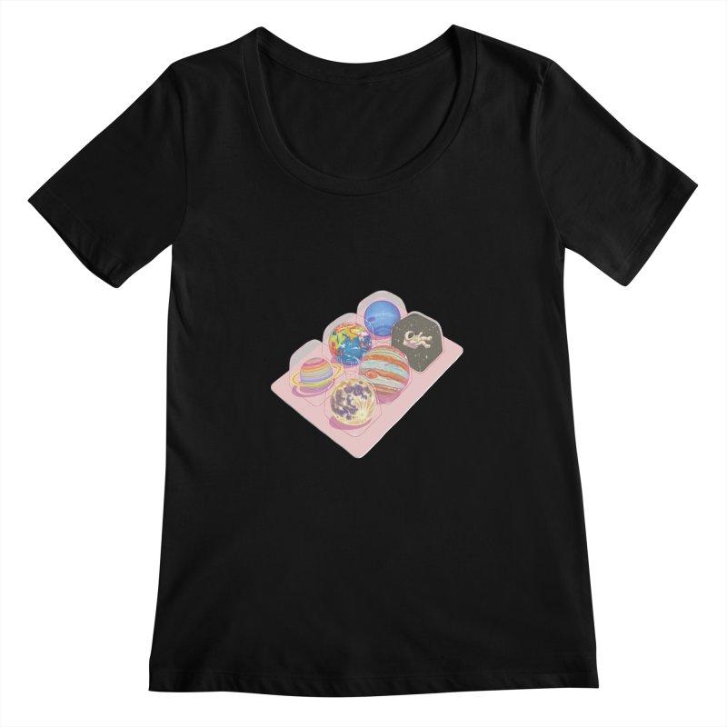 universe space pack Women's Scoopneck by makapa's Artist Shop