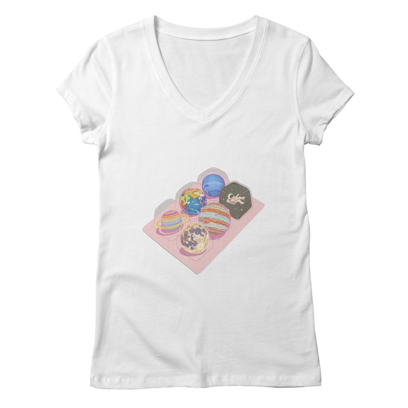 universe space pack Women's Regular V-Neck by makapa's Artist Shop