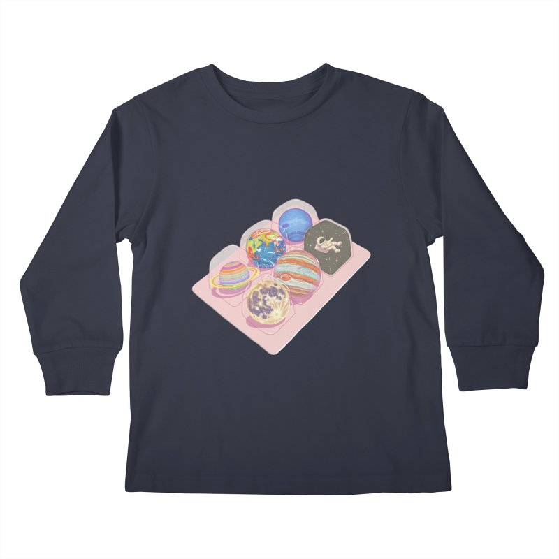 universe space pack Kids Longsleeve T-Shirt by makapa's Artist Shop