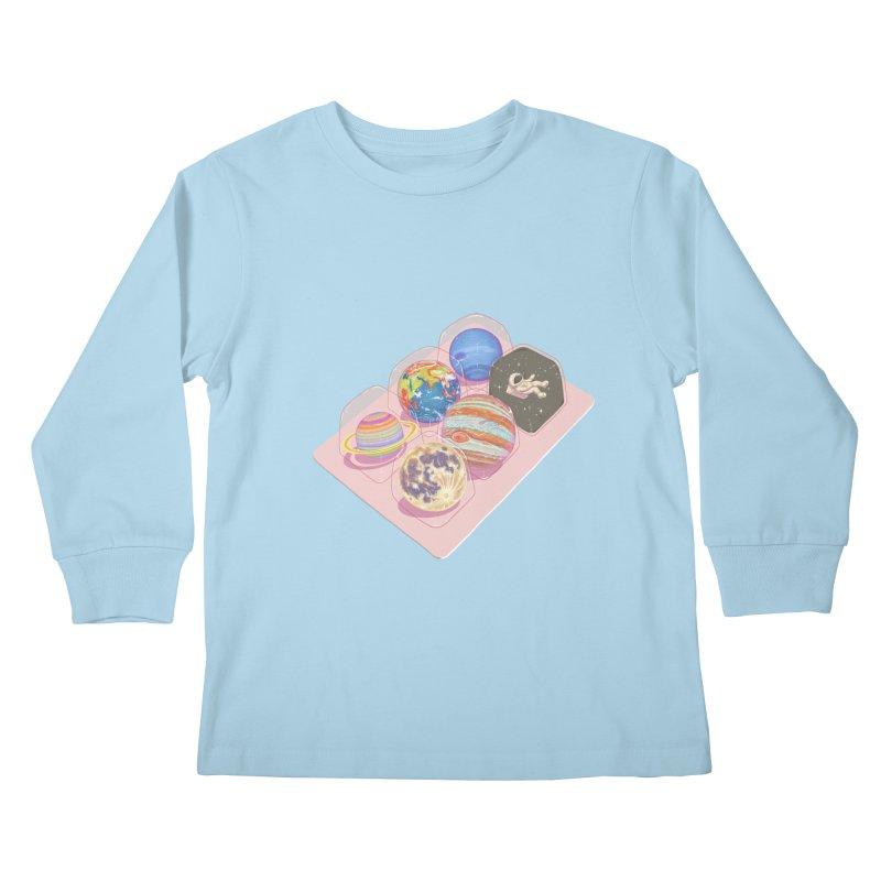universe space pack Kids Longsleeve T-Shirt by makapa's Artist Shop