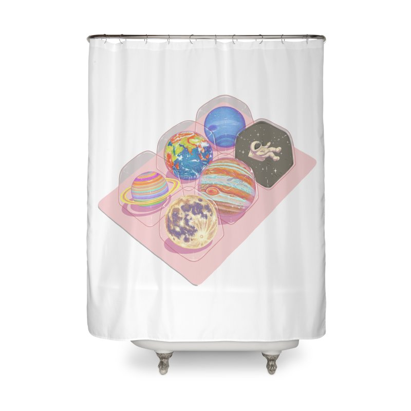 universe space pack Home Shower Curtain by makapa's Artist Shop