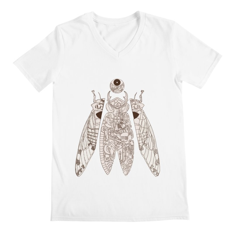 cicada poem Men's V-Neck by makapa's Artist Shop