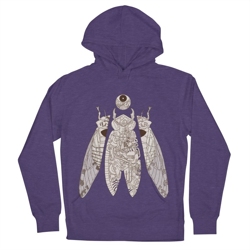 cicada poem Women's French Terry Pullover Hoody by makapa's Artist Shop