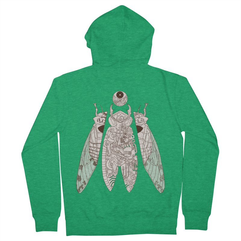 cicada poem Women's Zip-Up Hoody by makapa's Artist Shop