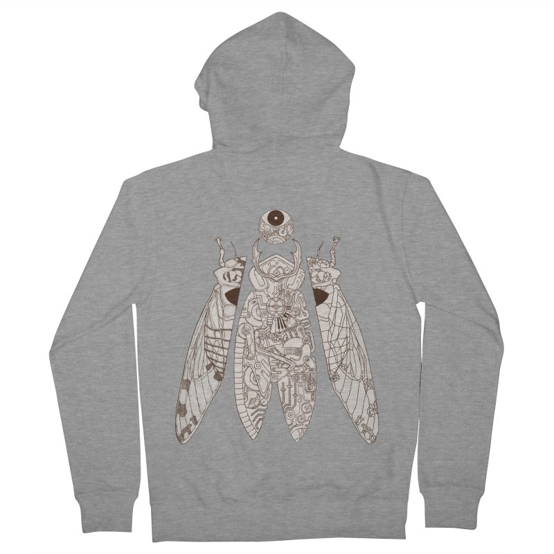 cicada poem Women's French Terry Zip-Up Hoody by makapa's Artist Shop