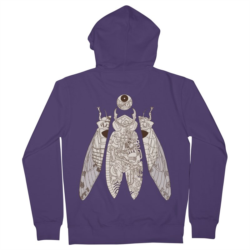 cicada poem Women's French Terry Zip-Up Hoody by makapa's Artist Shop