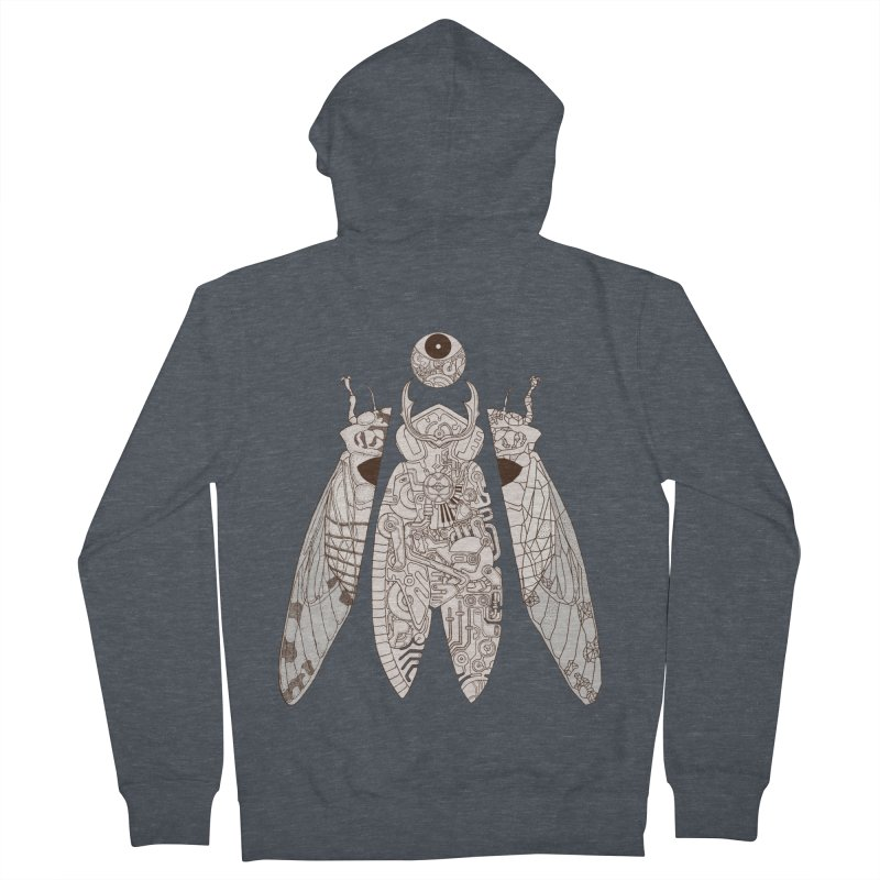 cicada poem Men's French Terry Zip-Up Hoody by makapa's Artist Shop