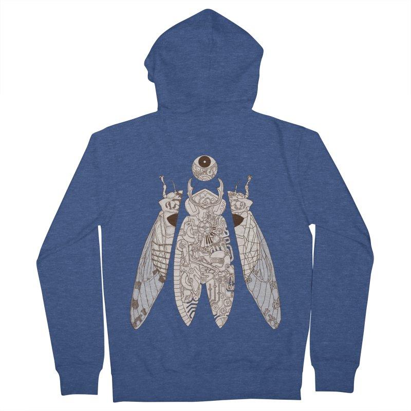 cicada poem Men's Zip-Up Hoody by makapa's Artist Shop