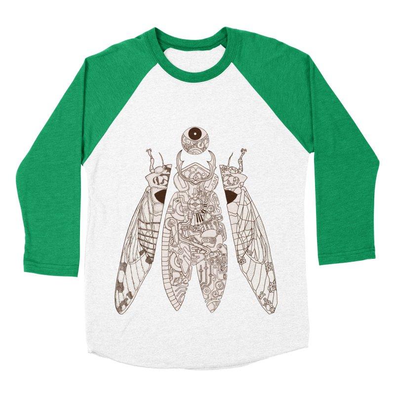 cicada poem Women's Baseball Triblend Longsleeve T-Shirt by makapa's Artist Shop