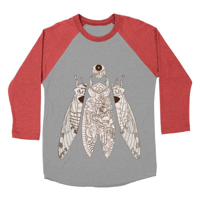 cicada poem Men's Baseball Triblend Longsleeve T-Shirt by makapa's Artist Shop