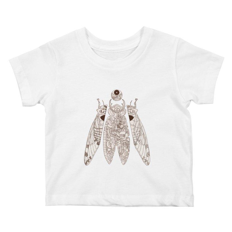 cicada poem Kids Baby T-Shirt by makapa's Artist Shop
