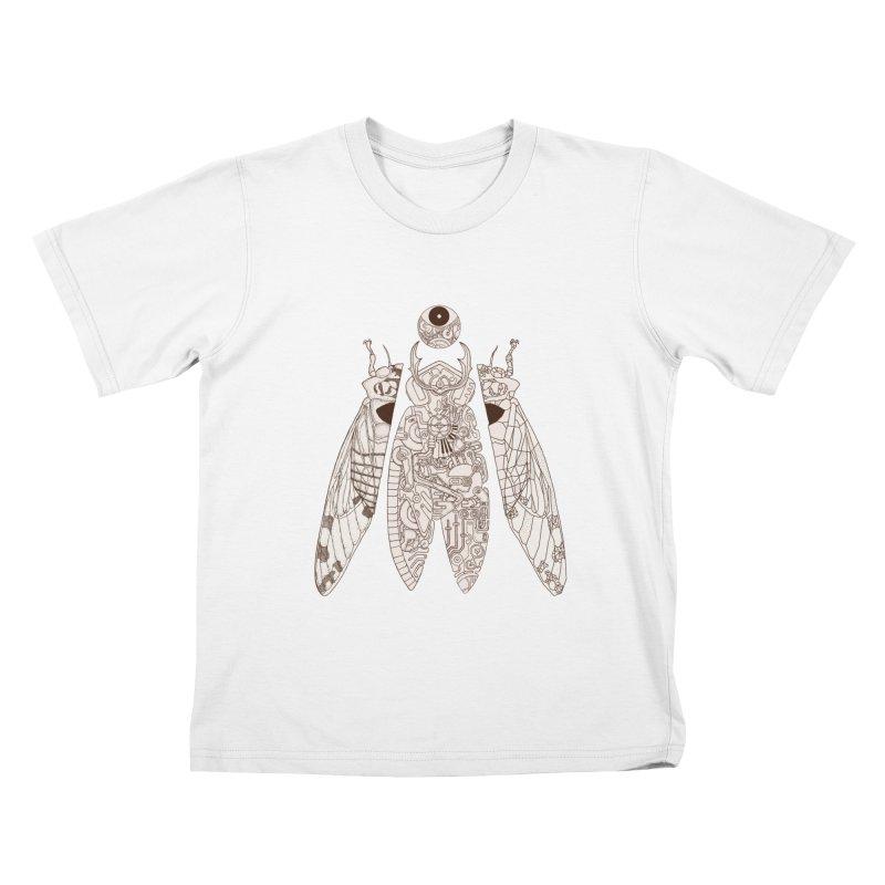 cicada poem Kids T-Shirt by makapa's Artist Shop