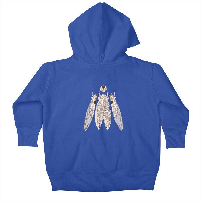 cicada poem Kids Baby Zip-Up Hoody by makapa's Artist Shop